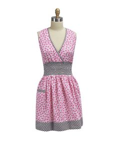 Take a look at this Flamingo Floral Smocked Apron - Adult by Kay Dee Designs on #zulily today!