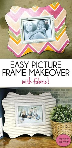 DIY Fabric Frame Makeover - EASY and CHEAP and FAST!  Perfect!