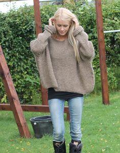 gotlænder uld strikketrøje strikkekit