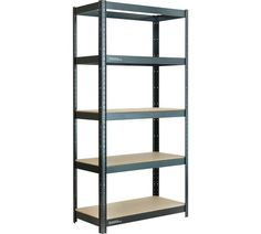 Buy 5 Tier Heavy Duty Shelving Unit at Argos.co.uk - Your Online Shop for Garage storage and shelving, DIY tools and power tools, Home and garden.