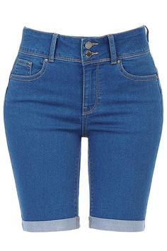 High Rise 5 Pocket Style Push Up Denim Jean Bermuda Shorts Ripped Bermuda Shorts, Denim Shorts, Waisted Denim, Long Blazer Jacket, Midi Skirt With Pockets, Curvy Outfits, Denim Fabric, Vintage Denim, Forarm Tattoos