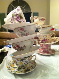 Rent A Tea Party: DIY Stackable teacups for Mad Hatter Tea Party