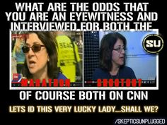 What are the odds? Deception by CNN media and/or government in the Boston Marathon bombing?
