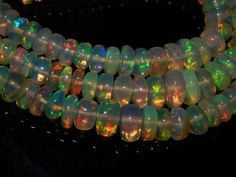 Awesome Ethiopian Fair Opal Smooth Beads Size 3x6.6mm by SRBEADS