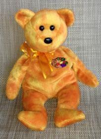 Beanie Baby Harvester TY Bear Plush Rare Beanie Babies, Beanie Baby Bears, Ty Bears, Ty Babies, Baby Stuffed Animals, Harvester, Big Eyes, Beanies, Keychains