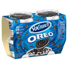 YoCrunch Oreo Cookies n' Cream Low Fat Yogurt - Cookies Oreo, Oreo Cupcakes, Oreo Truffles, Oreo Pops, Comida Disney, Dessert Oreo, Oreo Flavors, Low Fat Yogurt, Junk Food