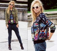 Zara Pants, H&M Shoes, Top Secret Sunglasses, Bershka Jacket, Sheinside Sweater