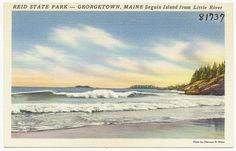 Reid State Park -- Georgetown, Maine, Seguin Island from Little River by Boston Public Library, via Flickr