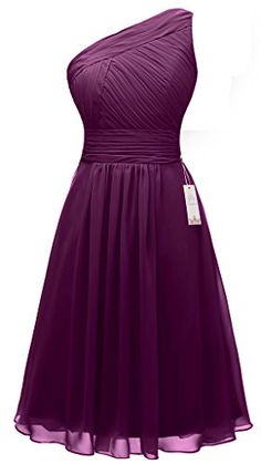 Eudolah Wedding One-shoulder Chiffon Bridesmaid Dress Short Homecoming Dance Gown Plum Size 6 Eudolah http://www.amazon.com/dp/B017LRUY5U/ref=cm_sw_r_pi_dp_dgzPwb0W99K70