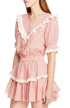 LoveShackFancy Nanette Minidress | Nordstrom