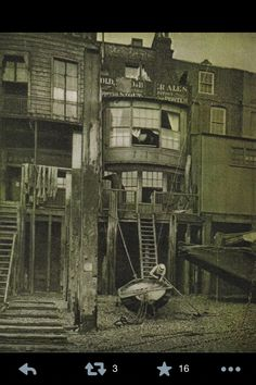 Old photo of one of my favourite pubs, The Grapes in Limehouse (from around 18something?)