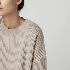 Soft oatmeal coloured jumper | @andwhatelse