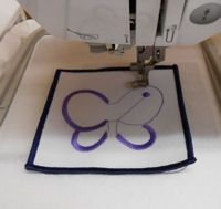 Tutorial - how to embroider on a blank patch