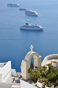 Firostefani, Santorini, Thira, Aegean_ Greece