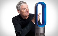Dyson Hot ($400) uses bladeless technology, a heating element built safely into the base, a thermostat control, and an oscillating motor to push hot air across any space