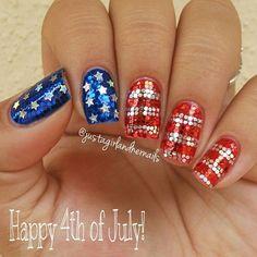 25 Patriotic 4th of July nail art