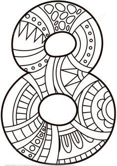 Número 8 Zentangle Dibujo para colorear. Categorías: Números Zentangle. Páginas para imprimir y colorear gratis de una gran variedad de temas, que puedes imprimir y colorear.
