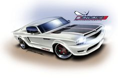 New Shoes new Nemesis Mustang - Hermance Design Chip Foose, Custom Muscle Cars, Custom Cars, Ford Mustangs, Pony Car, Automotive Art, Car Ford, Car Wallpapers, Hot Cars
