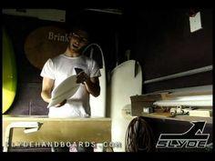 Donny Brink and Slyde Handboards Pinged rail handplane