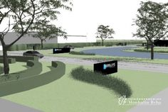 Laat je tuin ontwerpen door Tuinonderneming Monbaliu - Tuinontwerp rond bedrijfsgebouwen