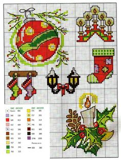Point de croix Noël *♥* Cross stitch Christmas: