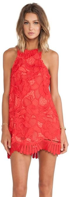 $180 LOVERS + FRIENDS CASPIAN SHIFT DRESS CORAL SMALL REVOLVE LOVERS AND FRIENDS #LoversFriends #Shift #Cocktail