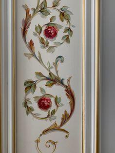 Stencil Wall Art, Stencil Painting, Mural Art, Wall Murals, Bordado Floral, Easy Canvas Art, Byzantine Art, Faux Painting, Button Art