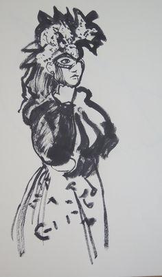 Chris F: Dr Sketchy's sketch 22 ink on paper