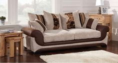 Kirk 3 Seater Sofa Scatter Back. Contemporary fabric sofa. Chenille cord effect fabric.