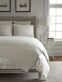 Airy and delicately textured, our Bissa collection has an exquisite, handwoven look and feel, similar to that of a Japanese tatami screen. Its lightweight weave works seamlessly with any beautiful design. Luxury Sheets, Luxury Bedding, Quilt Bedding, Bedding Sets, Blanket Cover, Cool Beds, Bed Styling, Cozy Blankets, Dream Bedroom