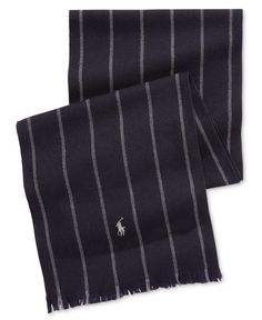 Polo Ralph Lauren Men's Banker Stripe Scarf. Striped ScarvesPolo Ralph  LaurenGlovesHatsIce ...