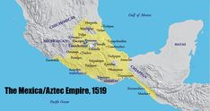 The Aztecs called themselves (endonym) Mexica (pronounced meh-SHE-ka). The modern country name Mexico is derived from this term. Aztec Empire, Aztec Ruins, History Encyclopedia, Country Maps, Modern Country, Inka, Religion, Old Maps, Historical Maps