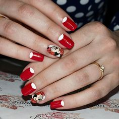 Cartoon nails, Easy nails for girls, Evening nails, Gel-lacquer moon nails, Half moon nails 2016, Half-moon nails ideas, Jeans nails, Mickey mouse nails