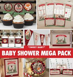 Save over 50% with the Baby Shower Mega Pack! Everything you need to throw a precious baby shower that will be sure to impress your guests! Gender neutral designs featuring a woodland fox, moose, and bear with buffalo plaid and wood grain accents - great for a sweet little boy or girl. Package includes games, decor, thank you cards, and more! All items are available for INSTANT DOWNLOAD immediately following purchase. Get started on your DIY baby shower today!