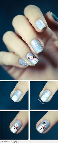 Snowman nails!
