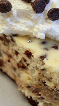 Seriously, I don't even know what else to say. Best Homemade Cheesecake Recipe, Cheescake Recipe, Best Cheesecake, Cheesecake Desserts, Dessert Recipes, Cookie Dough Desserts, Cookie Dough Cheesecake, Chocolate Chip Cookie Dough, Cake Pops Frosting