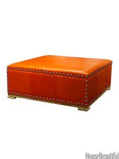 Storage Ottomans - Modern Storage Ottoman Furniture - House Beautiful