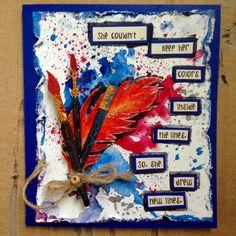 Butterflies N' Buttons: she art -- card