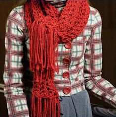 Receita de como fazer cachecol de trico com ponto fantasia   Vila do Artesão