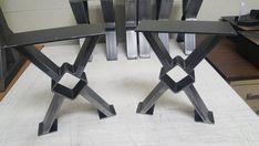 "Set of 2 Modern Bench ""X"" Legs, Model Heavy Duty industrial, Metal tubing Legs 16 H x 12 W Contemporary Kitchen Tables, Modern Dining Table, Metal Stool, Metal Table Legs, Industrial Bar Stools, Industrial Metal, Restaurant Bar Stools, Breakfast Bar Stools, Tube Acier"