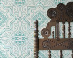 Wall Pattern Stencil Lisboa Tile Allover by royaldesignstencils, $59.00