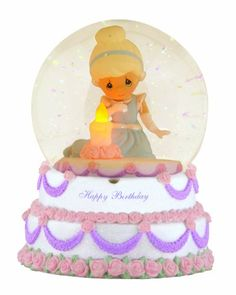 Precious Moments Cinderella Happy Birthday Musical Water Globe Figurine - http://www.preciousmomentsfigurines.org/precious-moments/precious-moments-cinderella-happy-birthday-musical-water-globe-figurine-2/