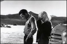 Montgomery Clift & Marilyn Monroe on the set of The Misfits, 1961. Last film of both actors