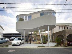 A Spiralling House on Stilts
