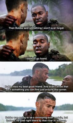I want to go home ~ Forrest Gump (1994) ~ Movie Quotes