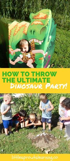 Kids LOVE dinosaurs, it never fails. Check out a great way to have some serious fun at a dinosaur party for kids without spending a fortune.