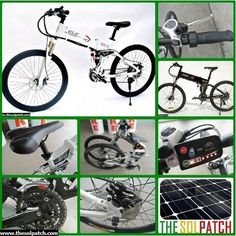 "ELECYCLE EB13-2 26"" FOLDING ELECTRIC MOUNTAIN BICYCLE Price: $1,949.00 FREE SHIPPING www.thesolpatch.com"