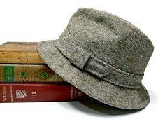 2f4ce6b62cd Vintage Kangol English Vagabond Tweed Wool Fedora Hat - Size Large Men s -  Brown Gray Camel