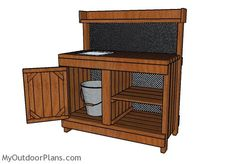 How to build a potting bench with sink