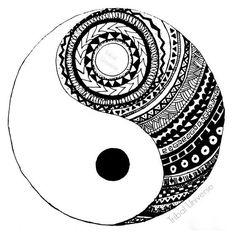 Yin and Yang - Pen and Ink Drawing